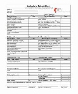 38 free balance sheet templates examples template lab With farm balance sheet template excel