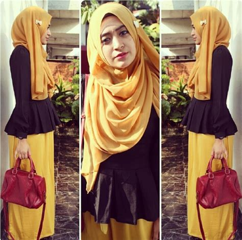 tampil feminin  rokskirt ala hijaber natasha farani