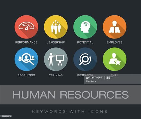 human resources keywords  icons stock illustration