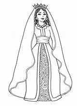 Queen Coloring Pages sketch template