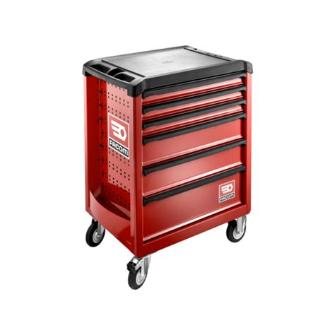 servante d atelier roues 6 tiroirs roll ral 3020 facom roll 6m3