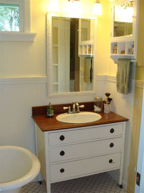 Diy Vanity by Diy Dresser To Vanity The Owner Builder Network