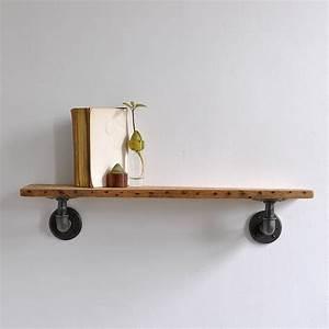 Chalk, Farm, Reclaimed, Industrial, Pipe, Shelf, By, Industrial, By, Design