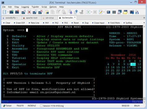 Tn3270 Terminal Emulation • Zoc Tn3270 For Windows 10 And