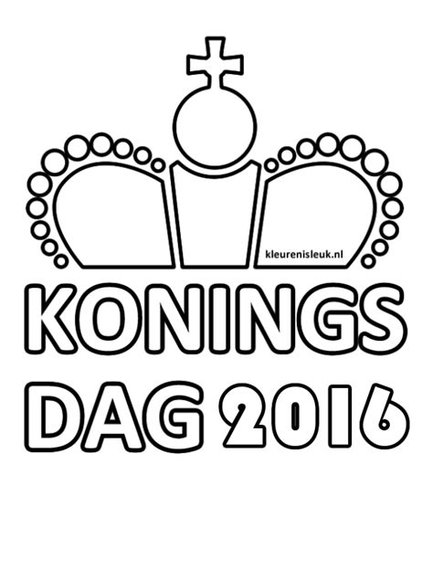 Koningsdag Kleurplaat by Koningsdag Kleurplaat 2016