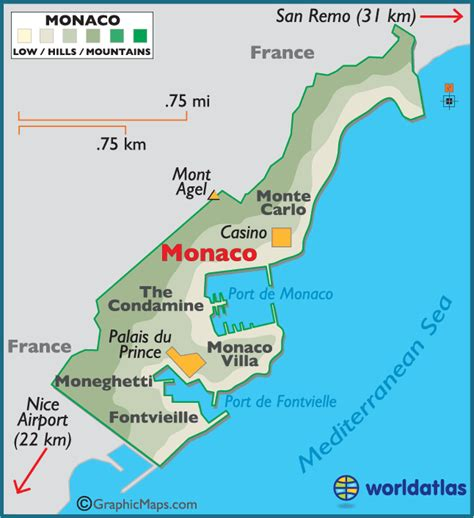 monaco large color map