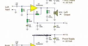 Build 32 Watt Amplifier Circuit Using By Tda2050v