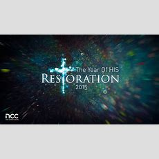 4 January 2015  The Year Of His Restoration Pastor