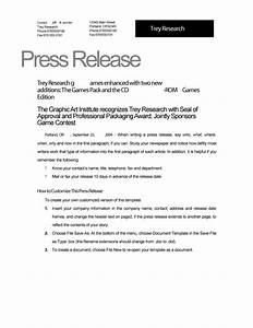46 press release format templates examples samples for Ceo press release template