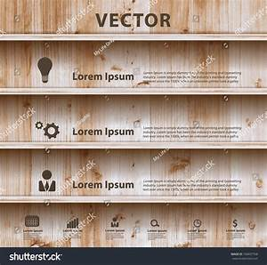 Wood Shelf Modern Design Template Workflow Layout  Diagram
