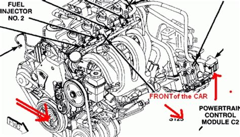 2001 dodge neon engine diagram automotive parts diagram