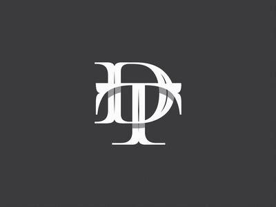 dt letter logo design monogram logo tattoo lettering fonts