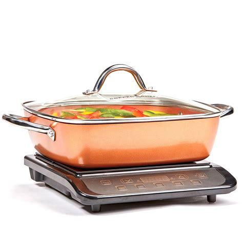 copper chef induction cooktop   casserole pan walmartcom walmartcom