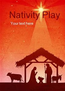 Nativity Play Editable Poster