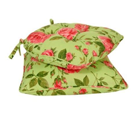 Green Pink Floral Seat Pads at www.perfectlyboxed.com