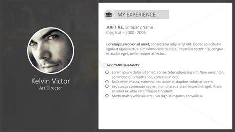 up to date digital resume for powerpoint slidemodel