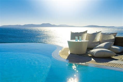 Mykonos Grand Hotel And Resort Greece Infinity Pools