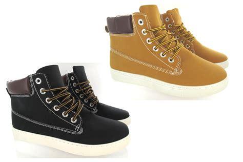 mens designer boots mens designer lace up casual flat hi high top ankle boots