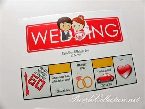 monopoly wedding card