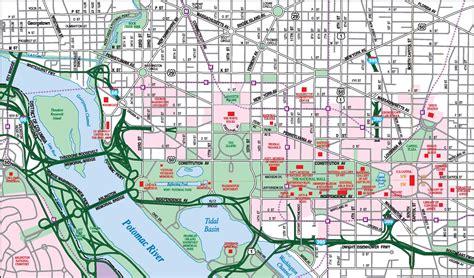washington dc downtown map