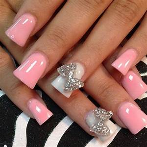 Light pink glitter acrylic nails...   Nails   Pinterest ...