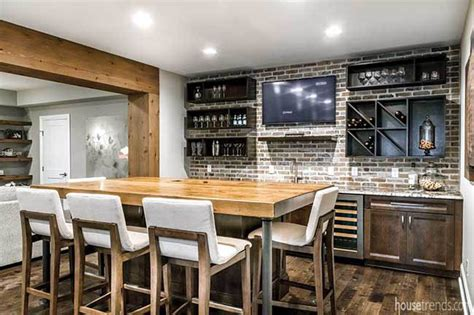 Basement Bar Island by Breathing Into Lower Levels