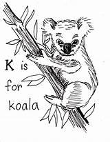 Koala Coloring Pages Printable Koalas Bear Animal April sketch template