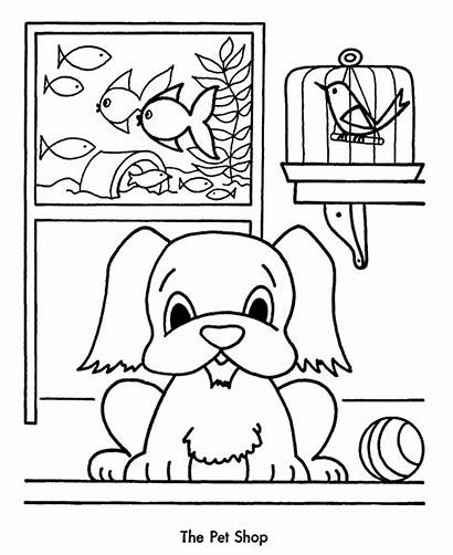 Coloring Shopping Pet Pages Christmas Sheets Sheet
