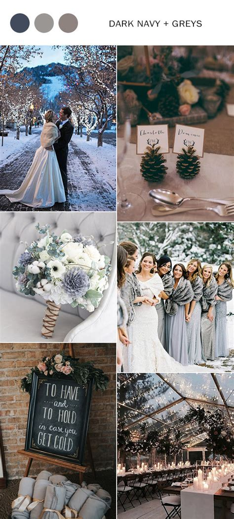 top  winter wedding color ideas