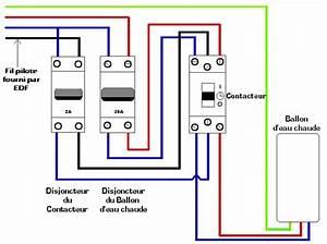 Disjoncteur Ballon Eau Chaude : schema branchement ballon d 39 eau chaude ~ Dailycaller-alerts.com Idées de Décoration