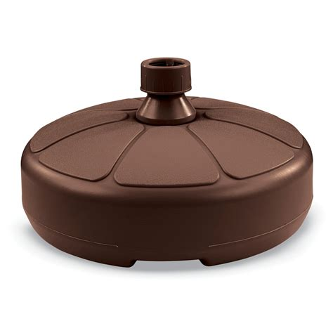 shop us leisure cappuccino resin umbrella base at lowes