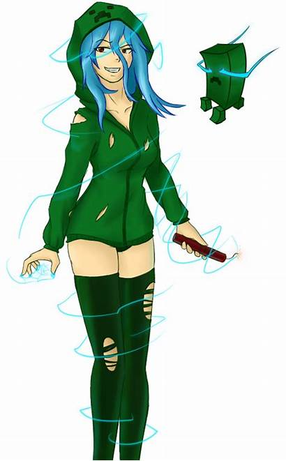 Creeper Minecraft Charged Super Clipart Anime Deviantart