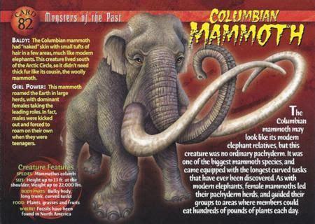 columbian mammoth extinct prehistoric animals names