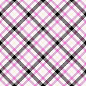 Pink And Black Seamless Plaid Background Or Wallpaper ...