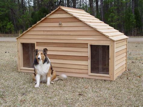 large duplex  door dog house custom cedar dog house