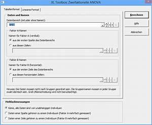 Blutzucker Berechnen : daniels xl toolbox zweifaktorielle anova ~ Themetempest.com Abrechnung