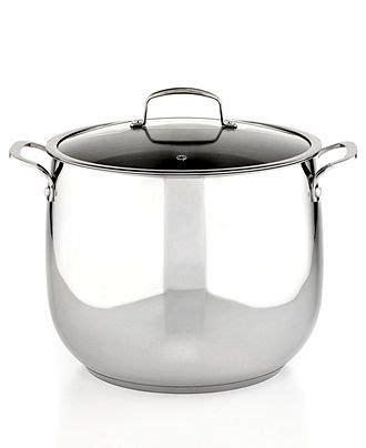 belgique stainless steel stockpot  qt cookware kitchen macys bridal  wedding