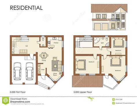 residential house plan royalty  stock  image