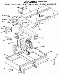 Craftsman 113197251 Parts List And Diagram