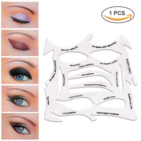 eyeshadow template lke 2 in 1 cat eyeliner stencil matte pvc material smoky eyeshadow applicators