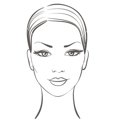Women Face Outline Drawing