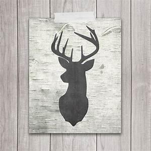 Printable art deer head from dreambigprintables