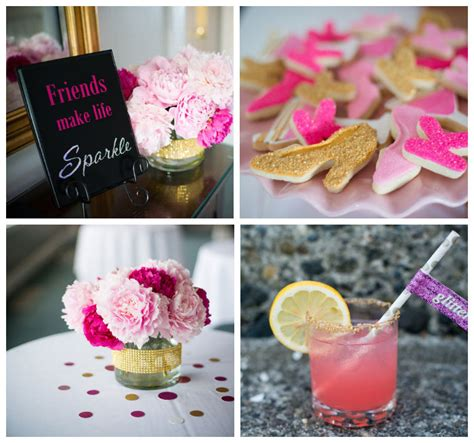 pink and gold 40th birthday decorations pink and gold 40th birthday via kara s ideas