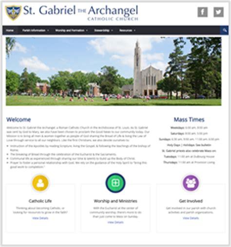 connecting members catholic website design mobile app