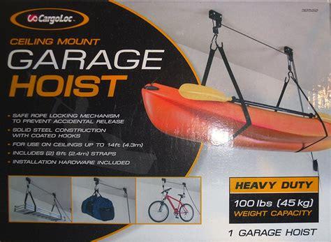 cargoloc ceiling mount bike lift cargoloc heavy duty garage hoist 100 lbs ceiling mount