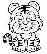 Tiger Coloring Tigers Printable Children Tigre Enfants Dementia Patients Smiling Mike Printables Disegni Coloriage Tigres Easy Colorare Disegno Newer Funny sketch template