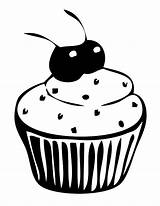 Coloring Cupcakes Pages Cherries Netart sketch template