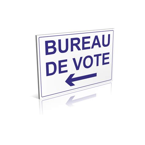 cloture bureau de vote panneau bureau de vote flèche à gauche signalétique pour