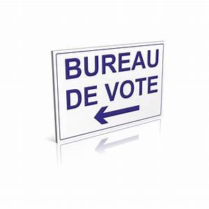 panneau Bureau de vote flèche à gauche signalétique pour les mairies
