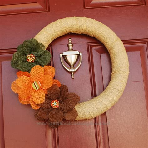 Craftaholics Anonymous  How To Make A Fall Wreath